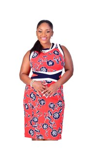 Shelby & Palmer BELINE-Plus Size Floral Printed Body Con Dress