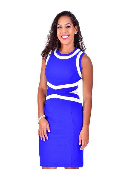 Shelby & Palmer BELINDA-Sleeveless Color Block Dress