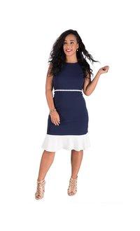 RAYNE-Sleeveless Dress with Flared Skirt