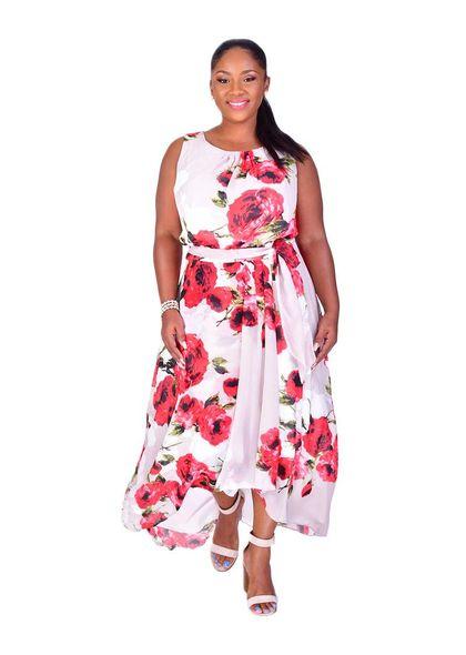 Shelby & Palmer FABIANA-Printed High Low Dress
