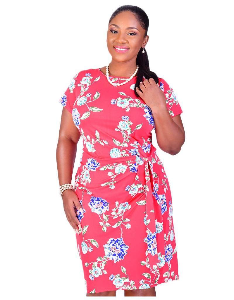 Voir IBERIA-Printed Faux Wrap Dress