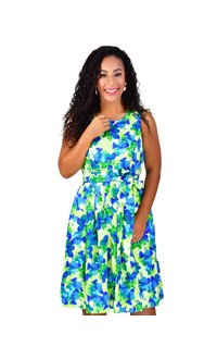 Shelby & Palmer HALLE-Printed Fit and Flare Dress