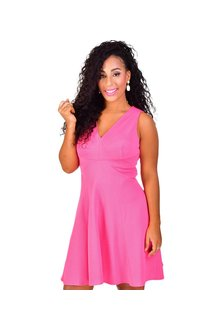 BABETTE-Sleeveless Fit and Flare Dress