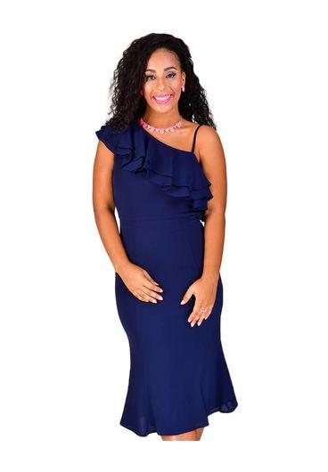 RAFAELLA-One Shoulder Dress