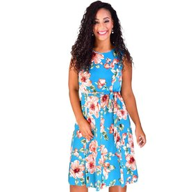 Shelby & Palmer INDU-Printed Fit and Flare Dress