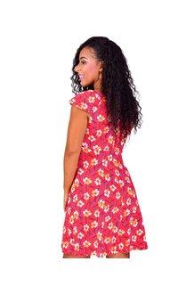 IDRSI-Printed Cap Sleeve Dress
