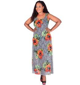 CANDY-Printed  Sleeveless Dress