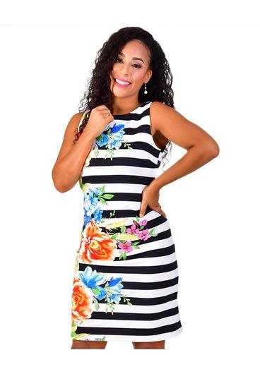 Shelby & Palmer UBIKA-Stripe Printed Sheath Dress