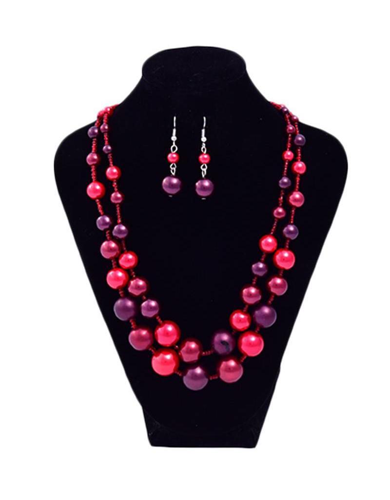 Jewelry-2 layer pearl set