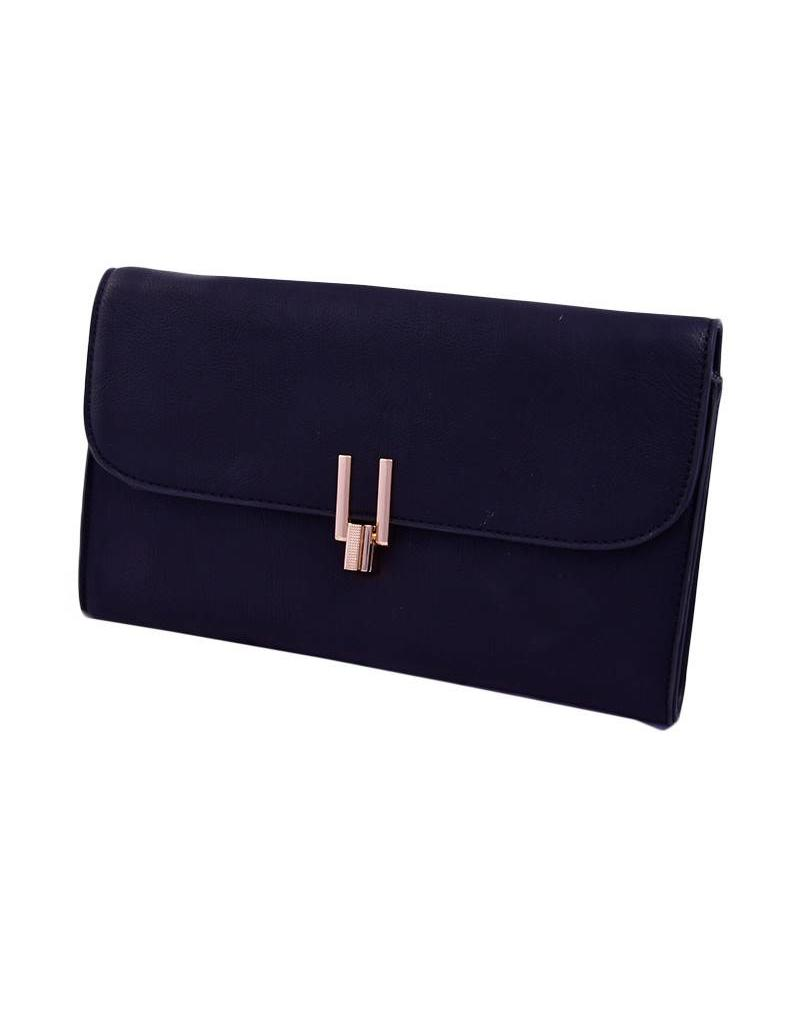 Bag-clutch w/gold clip