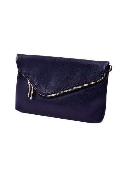 Bag-clutch w/zip on flap