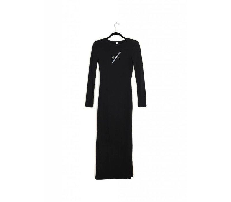 Long Sleeve dét Crewneck Dress