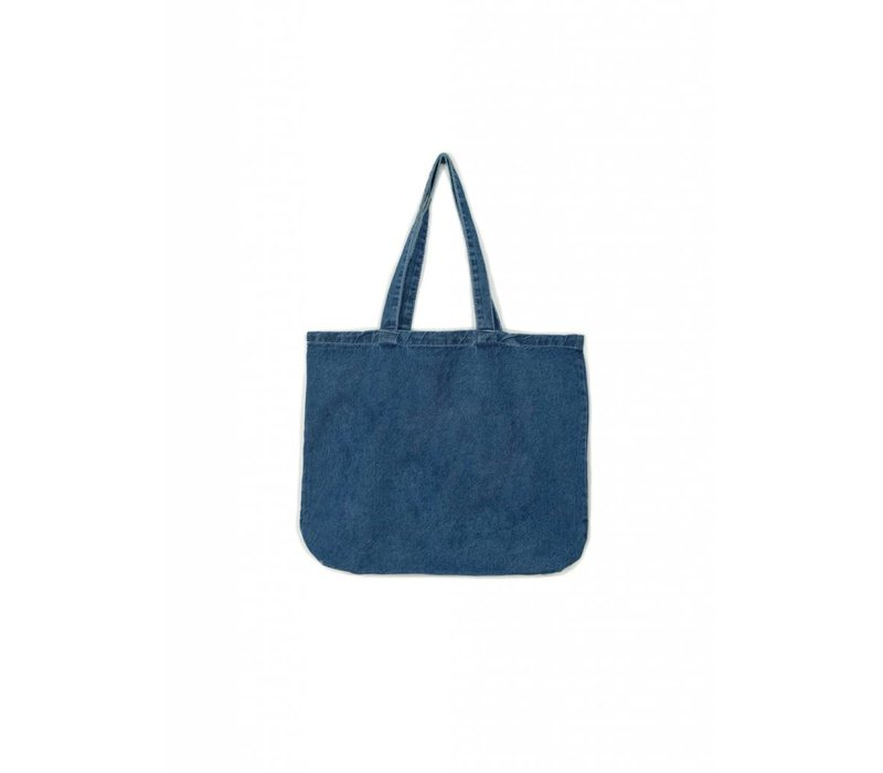 Distressed Woodward Denim Tote