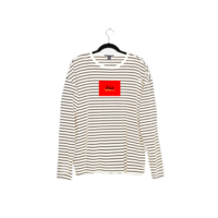 Long Sleeve Dét Red Box Stripe Tee