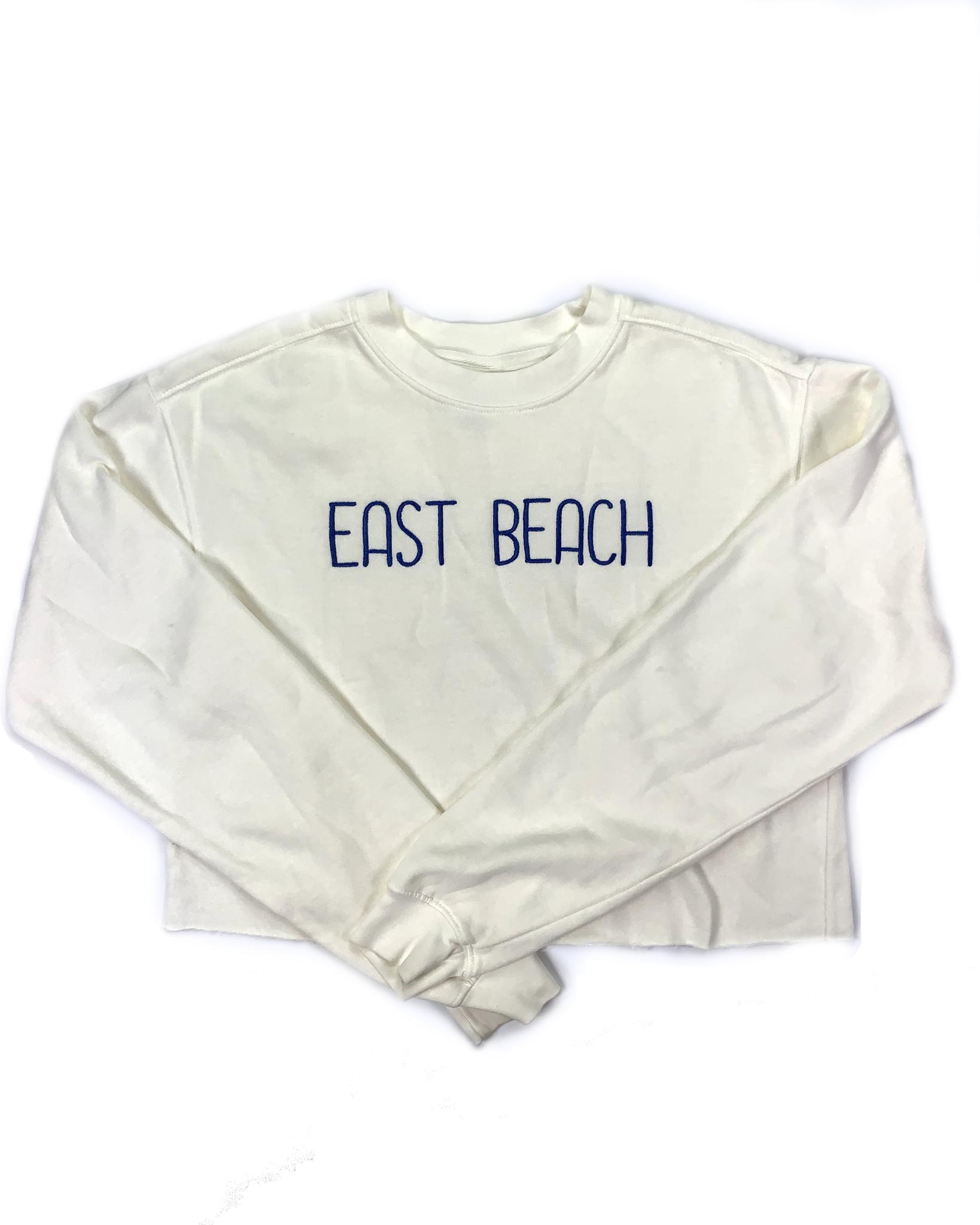 Blue 84 East Beach Believer Crop Sweater