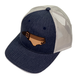 Ale Whales/Lost Wondo Navy/Light Grey NC Flag Richardson Hat