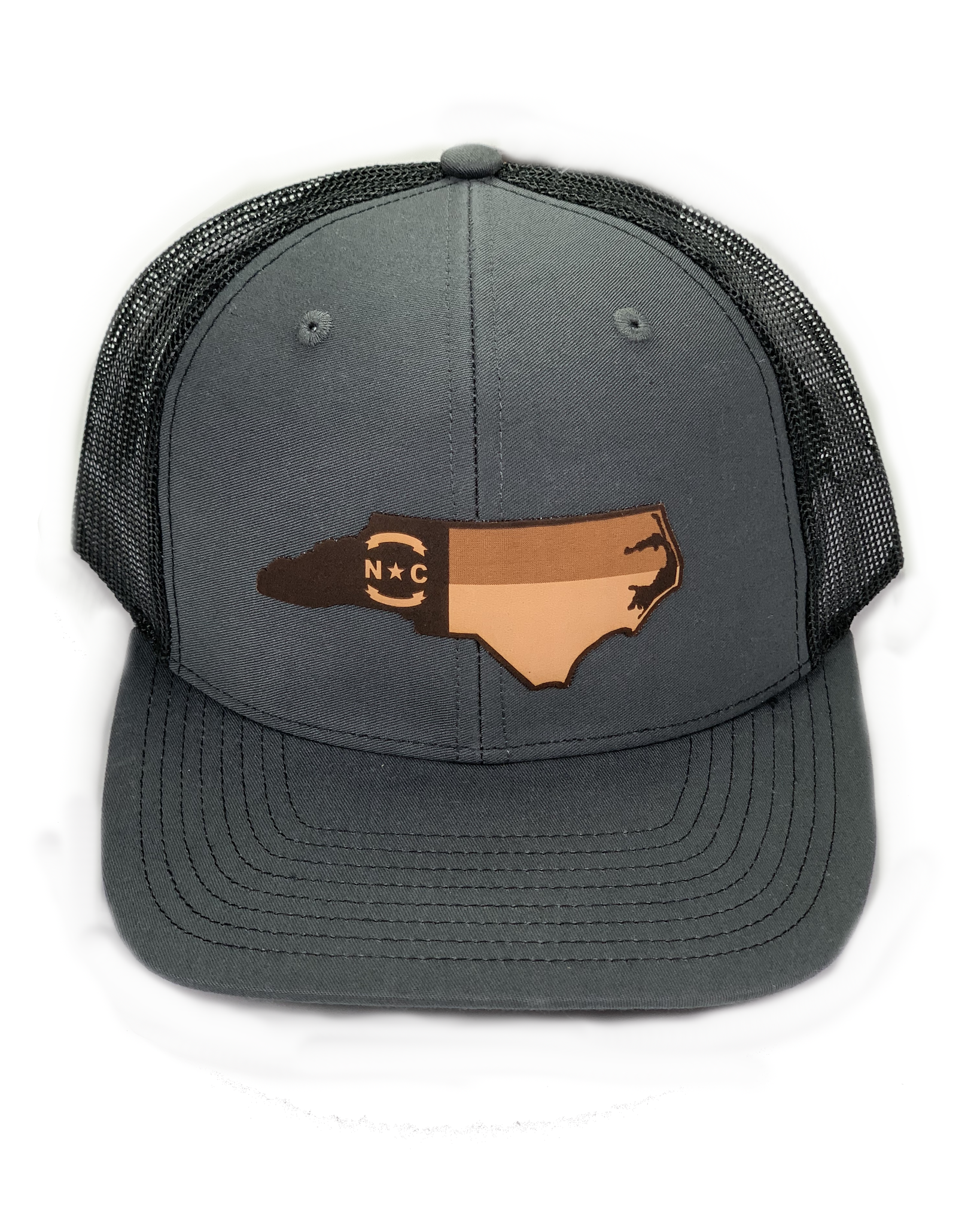 Ale Whales/Lost Wondo Charcoal/Black NC Flag Richardson Hat