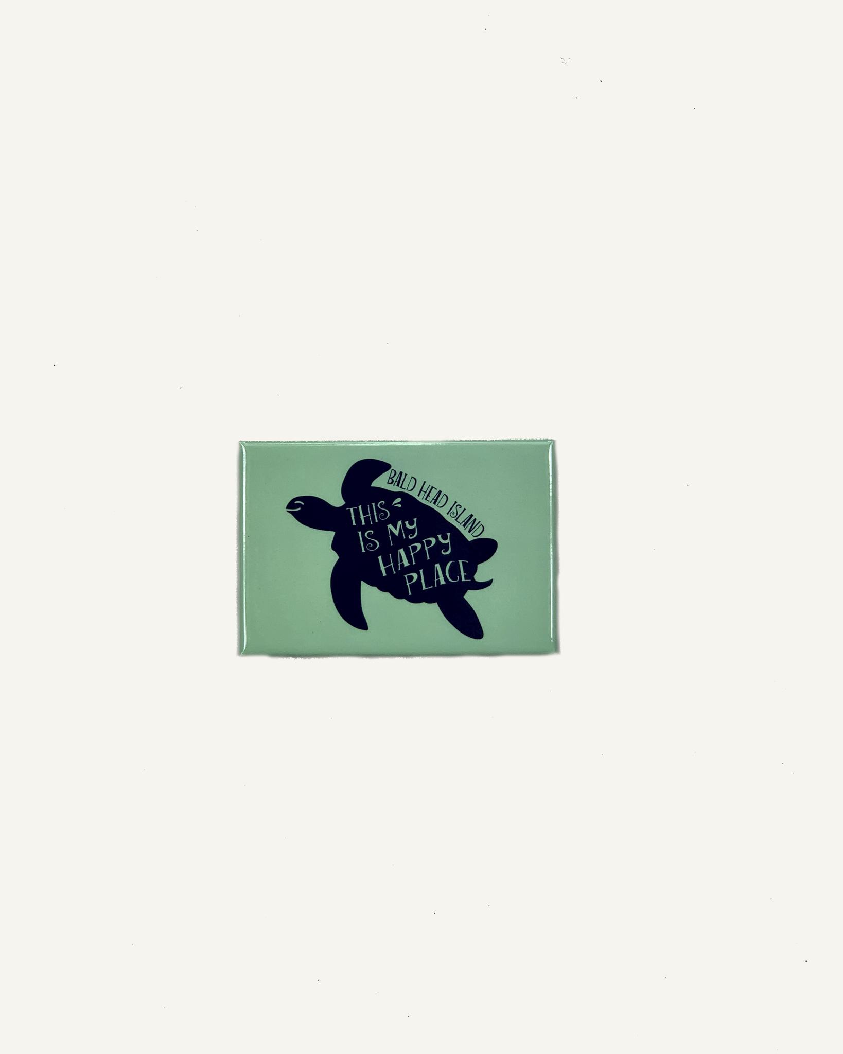 Mania Stickers BHI Happy Place Turtle Magnet