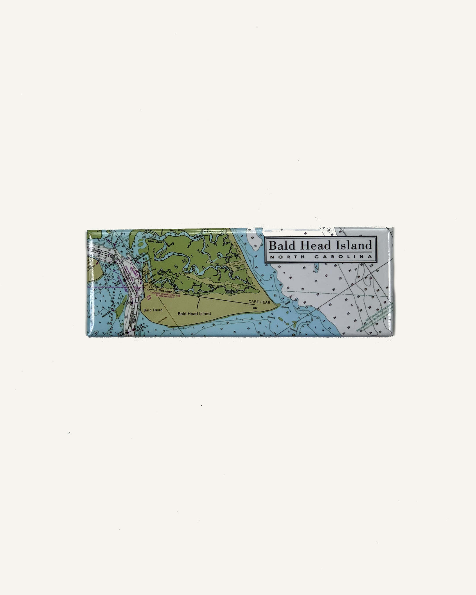 Mania Stickers BHI Pano Nautical Chart Magnet