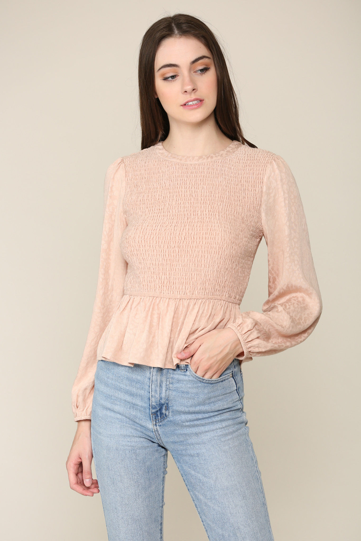 ILLA ILLA Dusty Rose Stretch Top