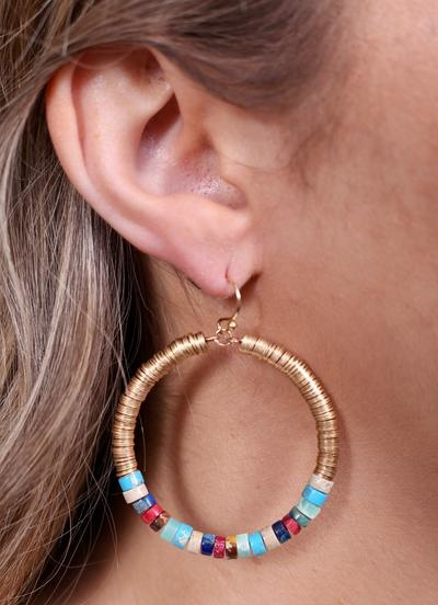 Caroline Hill Designs Multi Colored Linzie Beaded Earring