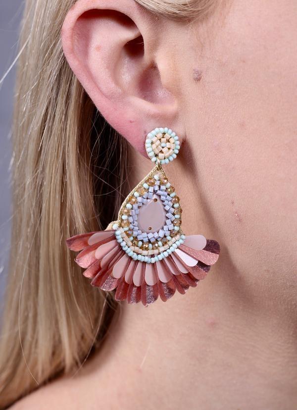 Caroline Hill Designs Baldwin Embellished Earrings