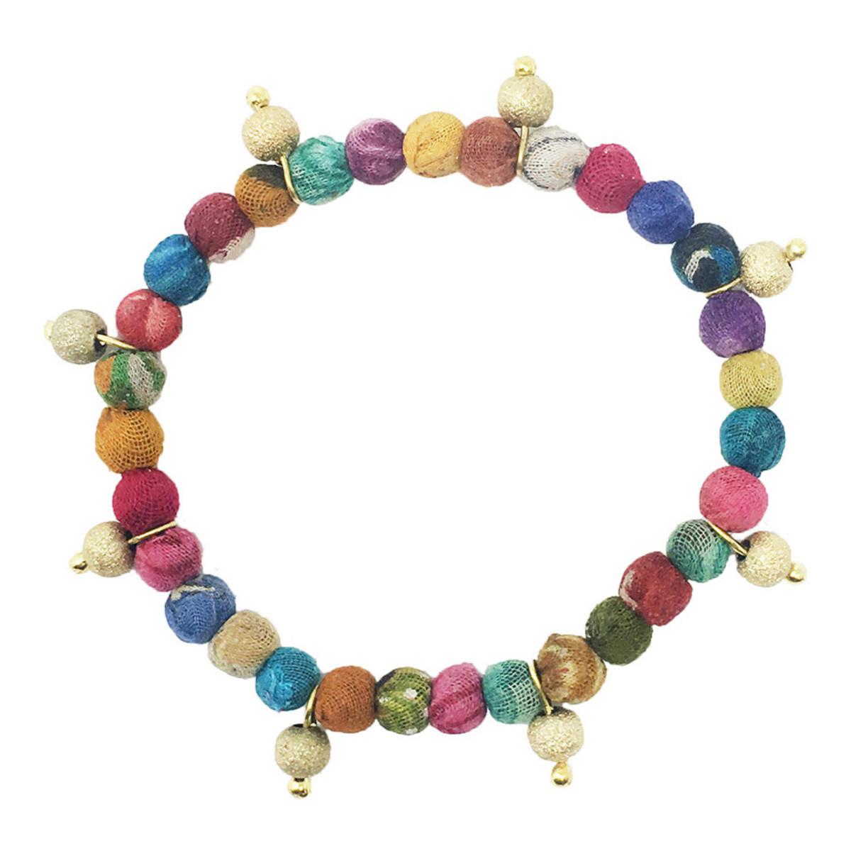 World Finds Celestial Kantha Bracelet