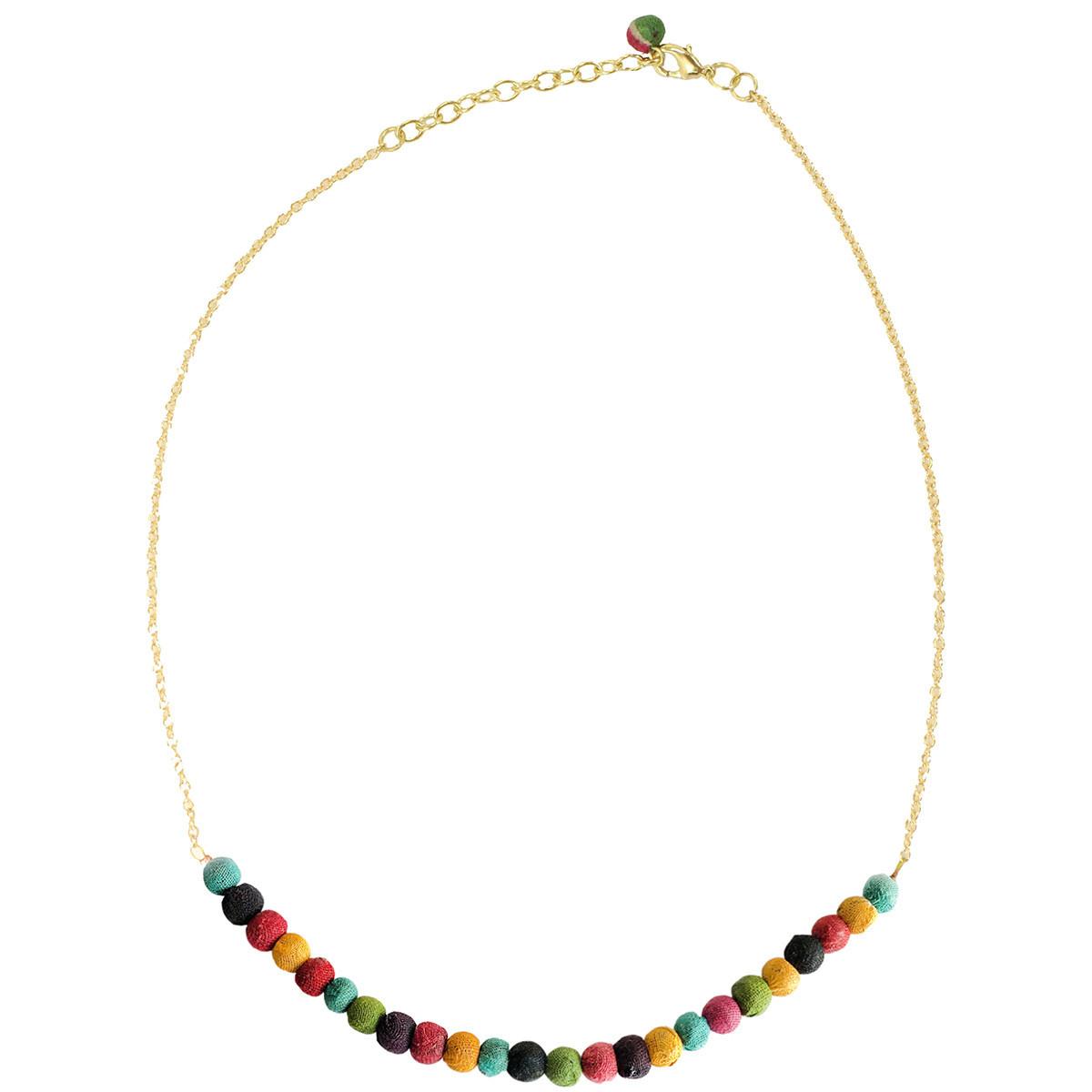 World Finds Delicate Kantha Necklace
