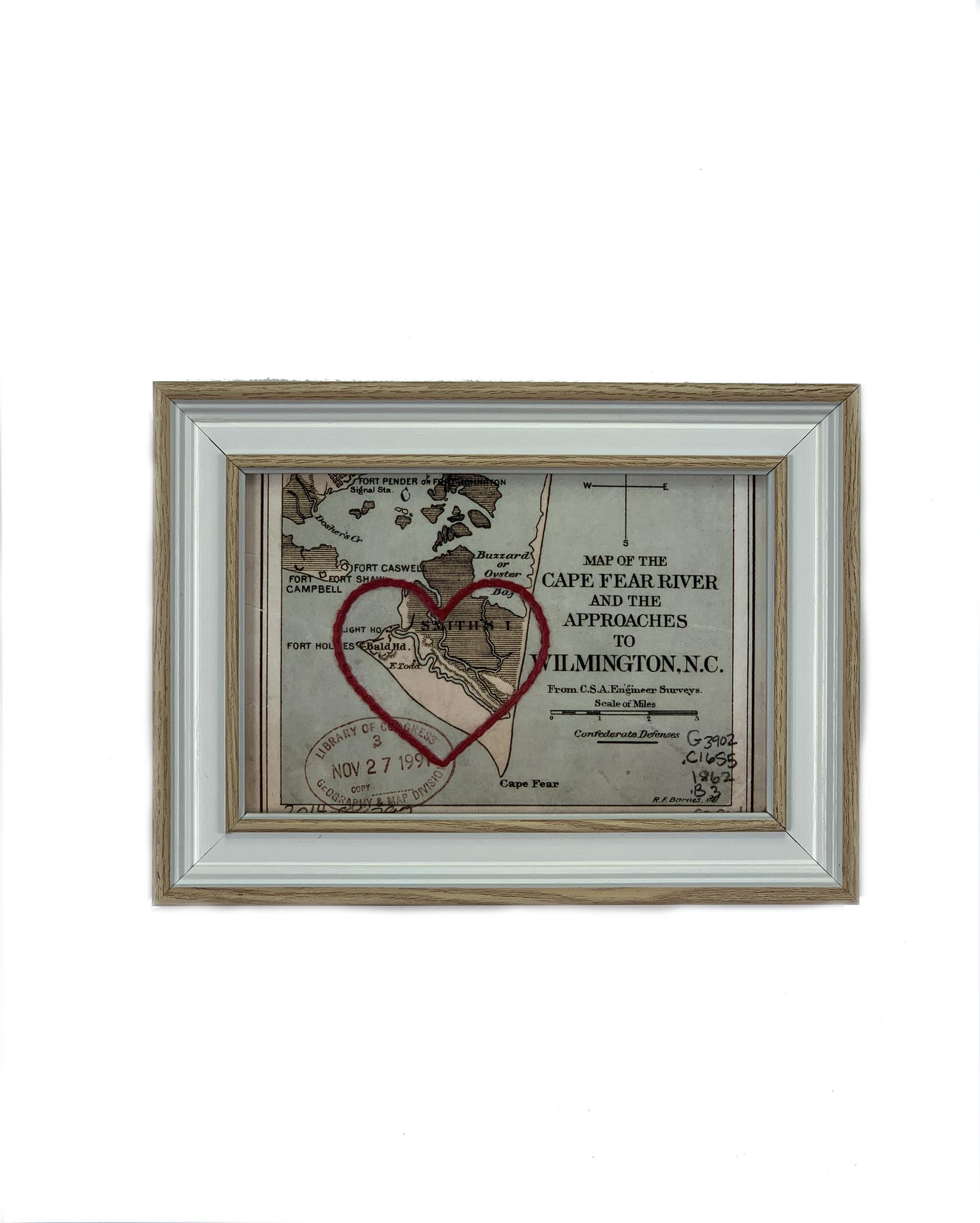 Sadie and June BHI Stitched Heart Map