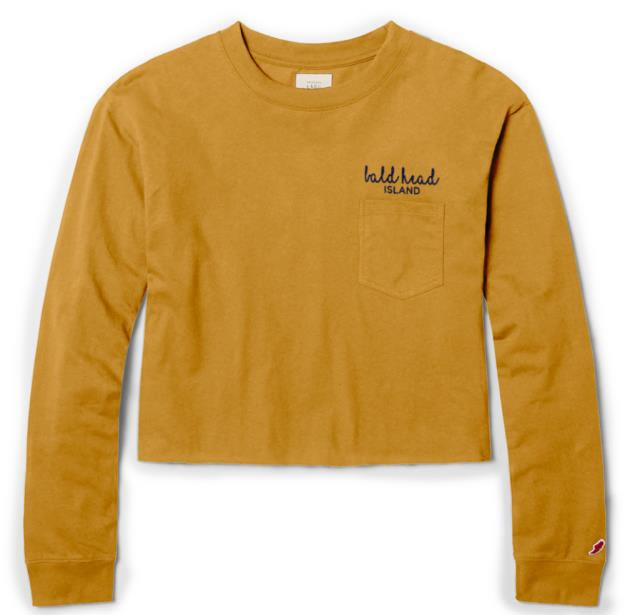 League BHI EMB Over Acheiver L/S Pocket Tee