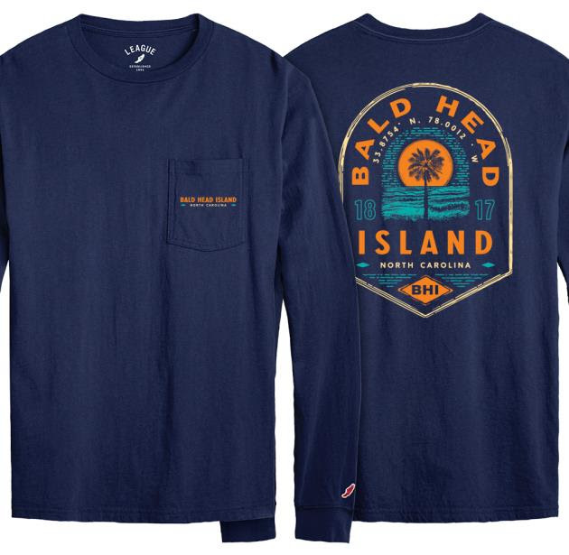 League BHI Lookout Long Sleeve Pocket Tee