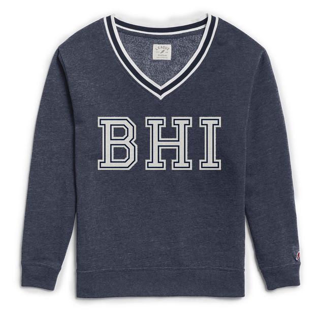 League BHI V-Neck Jersey Sweatshirt