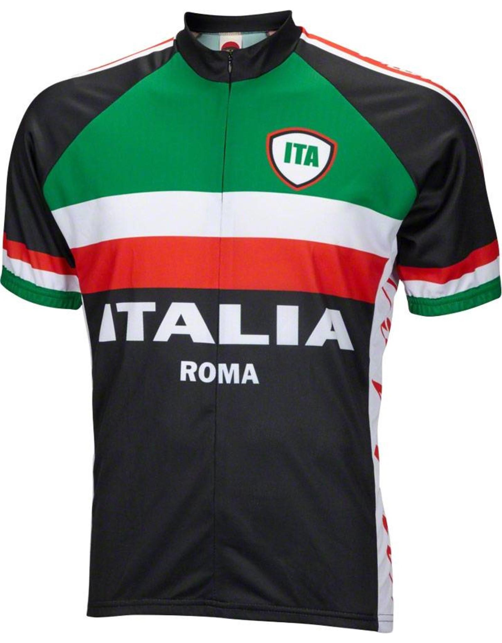World Jerseys World Jerseys Italia Men's Cycling Jersey: Black, XL