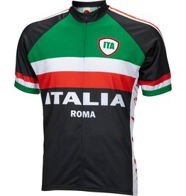World Jerseys World Jerseys Italia Men's Cycling Jersey: Black, XL