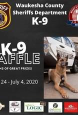Waukesha County Sheriff's Department K-9 Unit Raffle Tickets