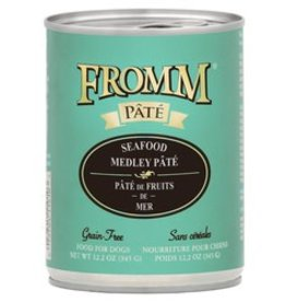 Fromm Fromm 12.2oz Dog GF Seafood Medley Pate Can 12/CASE