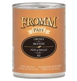 Fromm FROMM 12.2oz Dog Chicken & Rice Pate Can 12/case