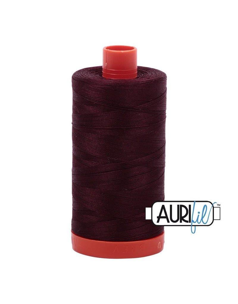 Aurifil 50 wt. Piecing Thread 2468 Dark Wine