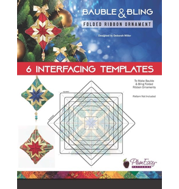 Bauble & Bling Folded Ribbon Ornament Interfacing Templates 6/pk