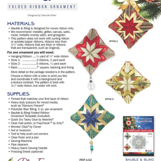 Bauble & Bling Folded Ribbon Ornament Pattern