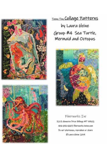 Teeny Tiny Collage Pattern Group 4-Includes Sea Turtle, Mermaid, and Octopus