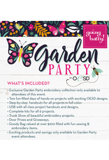 OESD Garden Party Embroidery Event- March 6-7th  9a-3p