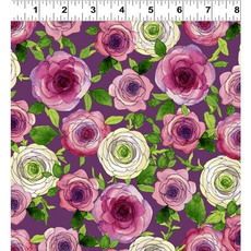 Clothworks Radiance- Y2935-46 Eggplant