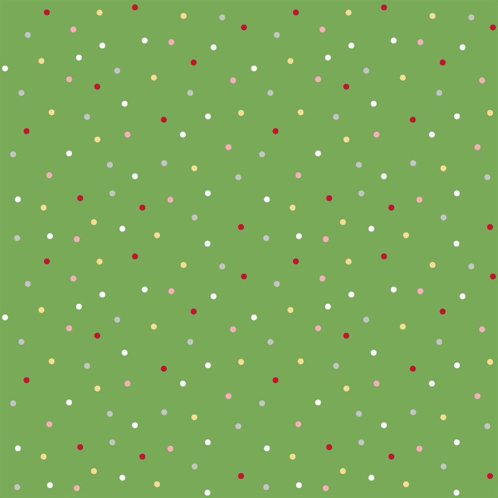 Kimberbell We Whisk You A Merry Christmas- 8218-G Multi Pin Dot Green/Multi
