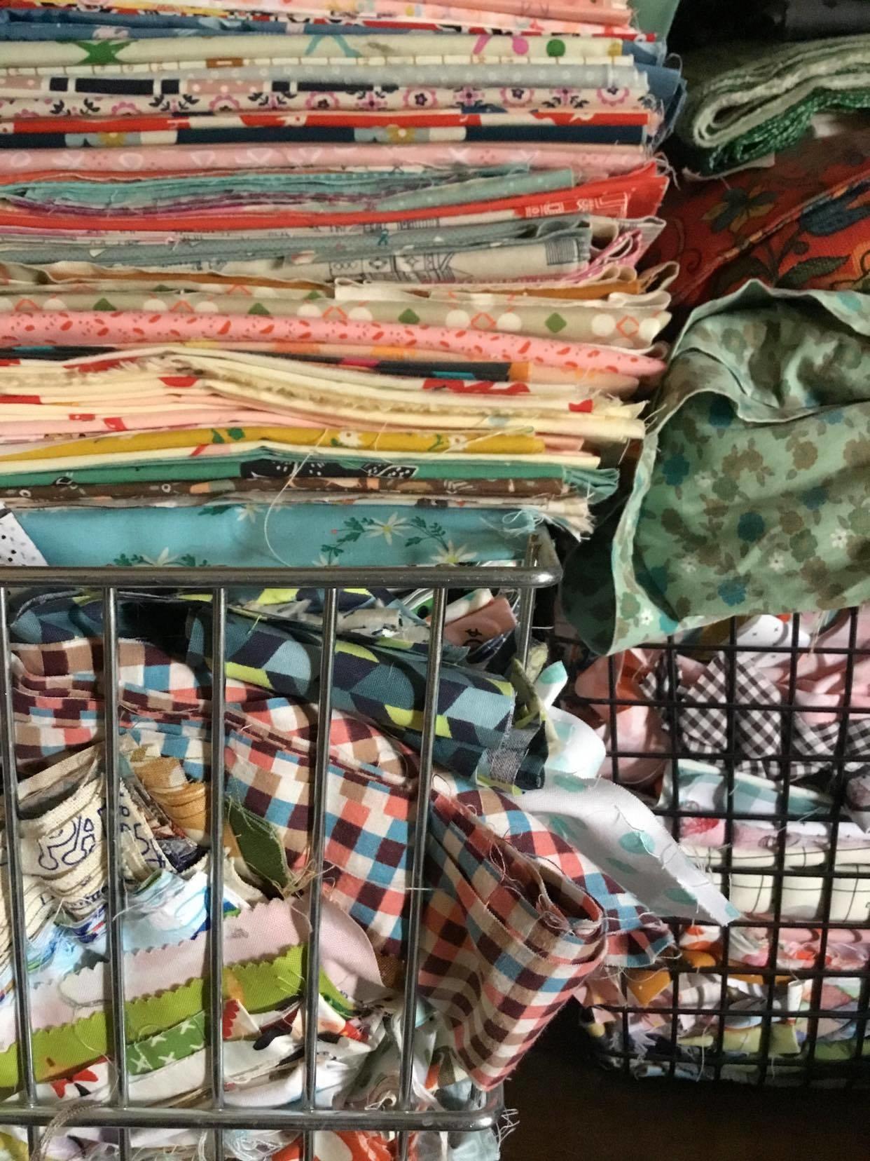 Scrap fabric storage
