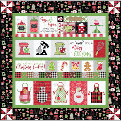 Kimberbell We Whisk You A Merry Christmas Quilt Kit- Black