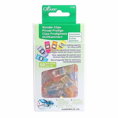 Clover Needlecraft Inc. Wonder Clips Assorted Colors 50pc