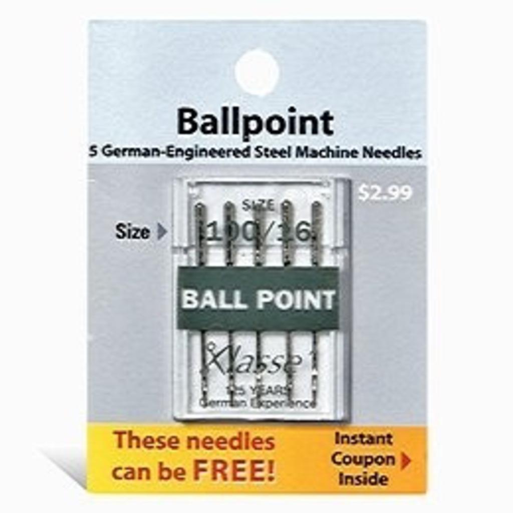 Klasse Klasse Needles-Ball Point 100/16