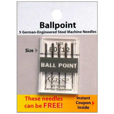 Klasse Klasse Needles- Ball Point 80/12