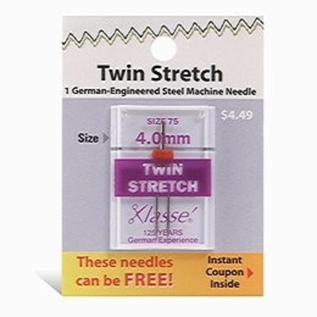 Klasse Klasse Needles- Twin Stretch 4.0mm/75